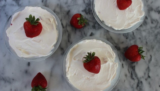 No Bake Strawberry Cream Pie | longdistancebaking.com