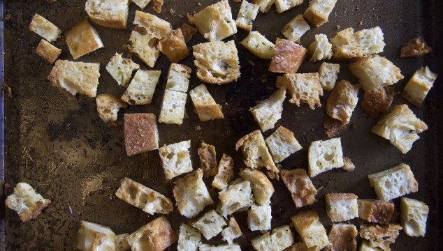 Easy Homemade Croutons, made from leftover bread | longdistancebaking.com